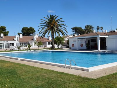 Photo for Nice house 150m from the beach - overlooking beautiful garden with swimming pool