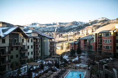 Wyndham Park City on the Left (Miner's Club on the Right)