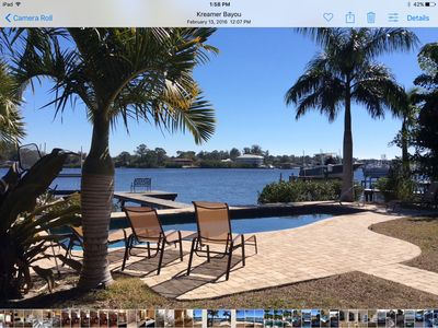 25% DISCOUNT FOR WEEKLY RENTS AT WATERFRONT 4/ BEDROOM HOME WITH DOCK AND POOL