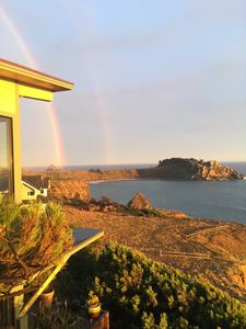 Double rainbow over Havens Neck Peninsula.