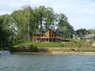 Photo for Beautiful Log Home On Lake Keowee with Covered Dock