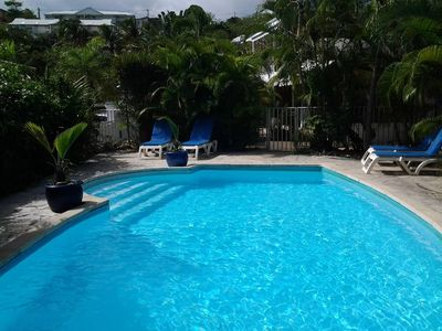 Photo for Charming Blue T2 Escape in residence with swimming pool