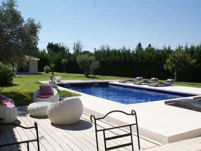 Photo for Annex Provencal farmhouse with heated pool