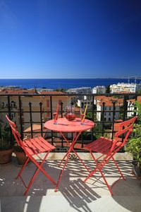 Photo for balcony sea view to 180% of the Cap d'Antibes to Cap de Nice