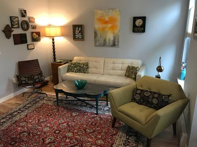 Photo for Bright, 1 BR (sleeps 4) Apt on Tree-Lined Block (15 Mins to Lower Manhattan!)