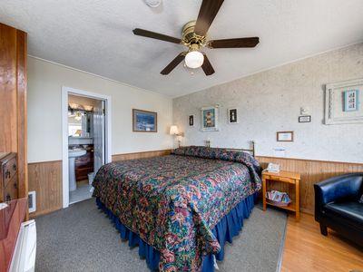 Photo for NEW LISTING! Cozy motel studio in quiet setting w/ ocean views - walk into town!