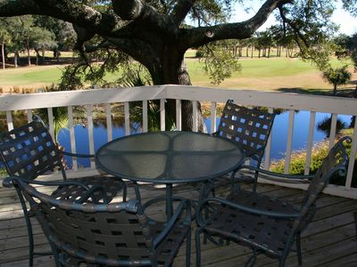 Photo for Golf Views! Screened Porch! Close to Beach, Pools, Golf, Dining!