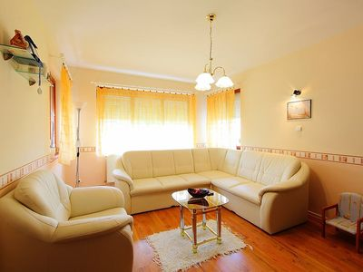 Photo for Apartment 520 m from the center of Balatonszemes with Parking, Washing machine, Garden, Terrace (115259)