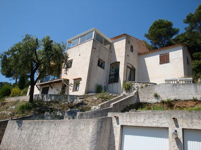 Photo for 60 m2 apartment on the ground floor villa, 10 minutes from Nice airport, 6 km sea.