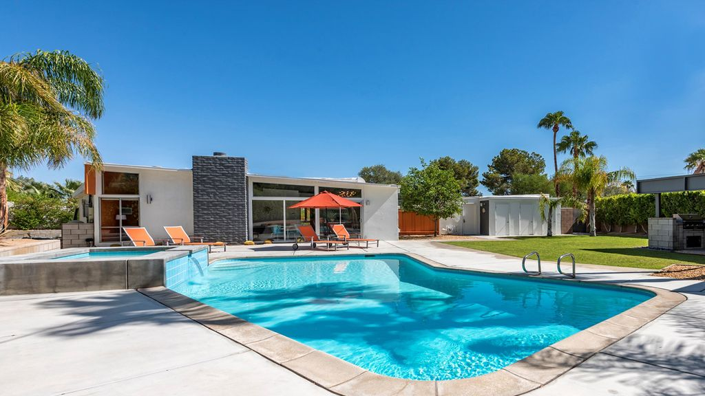 Iconic Erfly Midcentury Modern House Pool Spa And Cabana Racquet Club Estates
