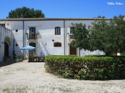 "Photo for Rustic apartments inside the Baglio ""Villa Velez"", near Balestrate"