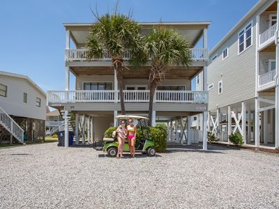 Photo for Ocean View on 2nd Row! POOL, Pet Friendly, large kitchen and Golf Cart.