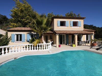 Photo for Idyllic setting in the countryside with private pool and breathtaking views