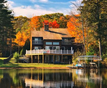 Photo for 4-Season Contemporary Lake House with 3 Bedrooms, 2.5 Baths, Fireplace & More