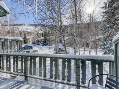 Photo for Modern, family-friendly  mountain townhouse with balcony and views of Gore Range