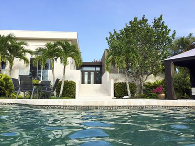 1.6 Acre Water Front Villa with Boat Dock On Lemon Bay and Private Beach Access