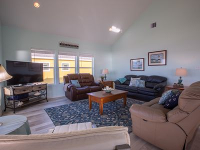 Photo for Seabatical New! Beachfront . 3 BR, 3 BTH, Gourmet kitchen, Beachfront. Awesome Deck.