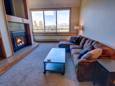 Photo for This large 1b with a loft located in West keystone with sleeping capacity for 8, access to an indoor pool and hot tub and in the free shuttle route.