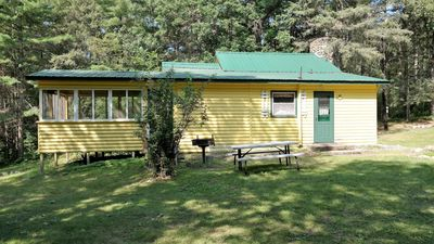 Photo for Lakefront 3 bed / 2 bath cabin on Big Mantrap Lake