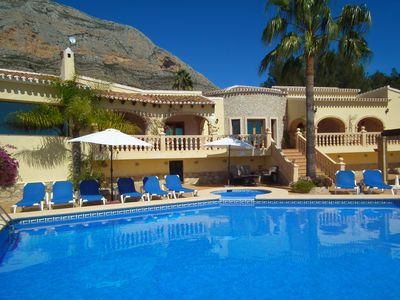 Photo for LUXURY SIX BEDROOMED - FIVE BATHROOMED VILLA WITH LARGE PRIVATE POOL