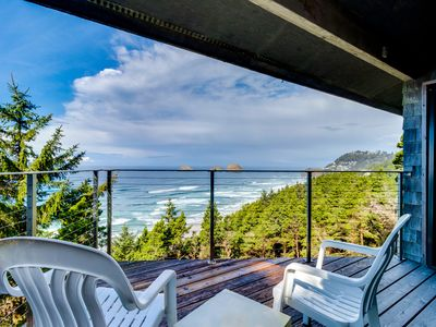 Photo for Oceanfront home w/ two balconies & lovely views - dogs are welcome, too!