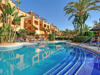 Photo for Charming Apartment in Beautiful Resort de lujo Mijas Costa with Pool, Garden; Parking Available