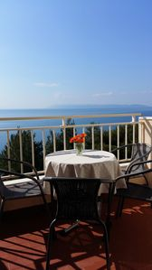 Photo for Apartment with splendid view of the sea, just 50m from the beach, quiet location