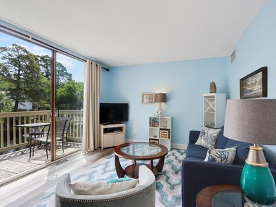 Photo for Best Beaches on HHI & Lagoon views from this 1BR villa on South Forest Beach!