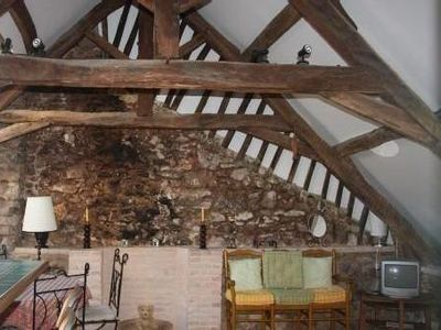 Photo for 3 rooms in 18th c. house, medieval pedestrian and central street, 50m from port