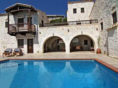 "Photo for ""Stone Castle Villa"" with pool, on a sandy beach, close to Athens, up to 17 gues"