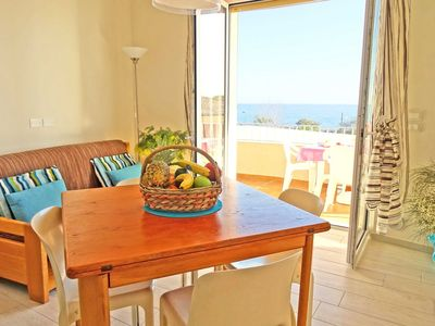 Photo for ONE BEDROOM apartment with BALCONY and SEAVIEW 50 metres from the SEA and 7 Km from SANREMO