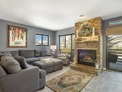 Photo for New Listing! Beautiful Updated Condo w/Fireplace - Centrally Located to ALL Skiing, Trails & Dining