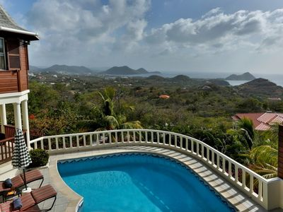 Photo for Residence du Cap- Luxury 4 bedroom villa with sea views in St Lucia