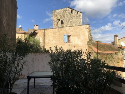 Photo for Apartment 4 people comfort in the historic center of Lorgues
