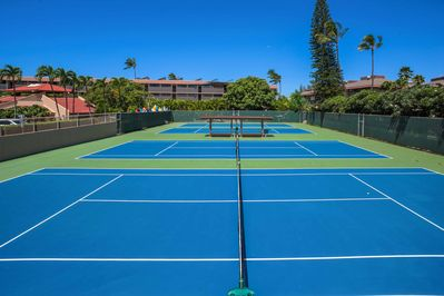 The condo is situated within the Kamaole Sands condo resort community.