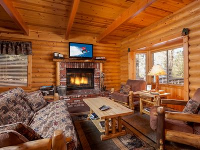 Photo for Cozy 3BR Home with Hot Tub & Huge Game Room - 1 Block to Snow Summit