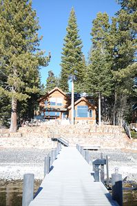 Photo for Bright and Modern North Tahoe Lakefront, Buoy and Private Pier Included!