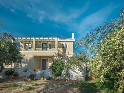 Photo for Villa Ilida, access to sea, balcony on the Ionian Sea within an olivegrove