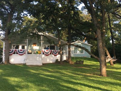 Photo for Beautiful Lakefront 4 BR/5 BA Hideaway w/Huge Yard & Gorgeous View