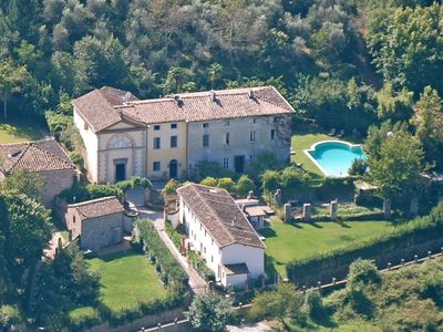 Photo for Luxury Tuscan C18th Villa Surrounded By Olive Groves With Pool And Tennis Court