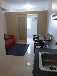 Photo for Short/Long Term,  1BR new, furnished Blue Residences, 27F, Beside Ateneo and MRT