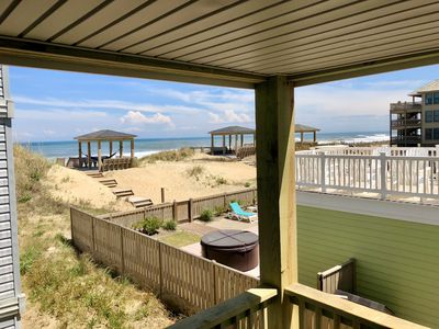 Oceanfront - Relax on the porch one unit back from the dunes