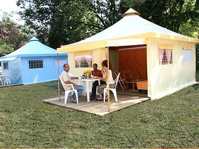 Photo for Camping Les Brillas *** - Bungalow 3 Rooms 4/5 People