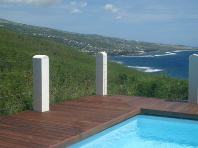 Photo for Magnificent Sea and Mountain Views with Salt Pool and Beautiful Garden