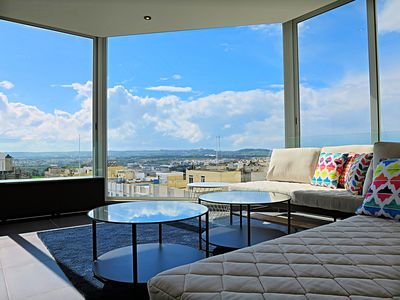 Photo for Luxury hilltop apartment with stunning views