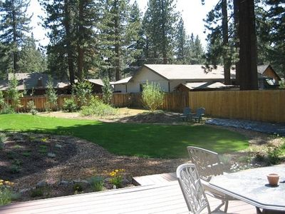 Photo for V23-Fantastic Tahoe Cabin Near The Lake W/ Fenced Backyard, HotTub,Pets Allowed