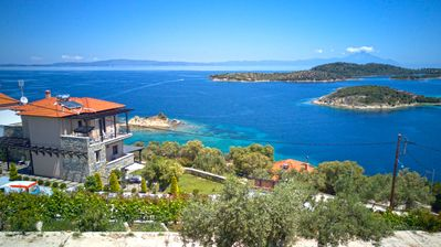 Photo for Aeriko Amazing Sea View Villa, Galini