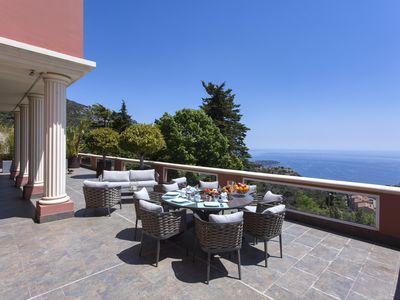 Photo for Villa Augusta / Luxury and modern with panoramic sea view on the Monaco Bay