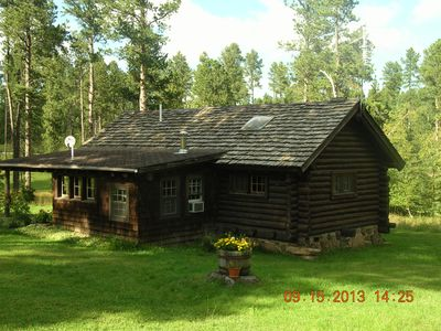 Black Hills - Little Elk Cabin (CCC Built) in  Vanocker Canyon Near Nemo!