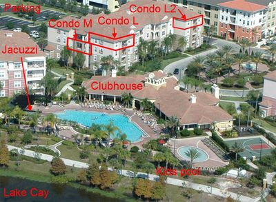 All our condos in the same building, next to main pool area and clubhouse